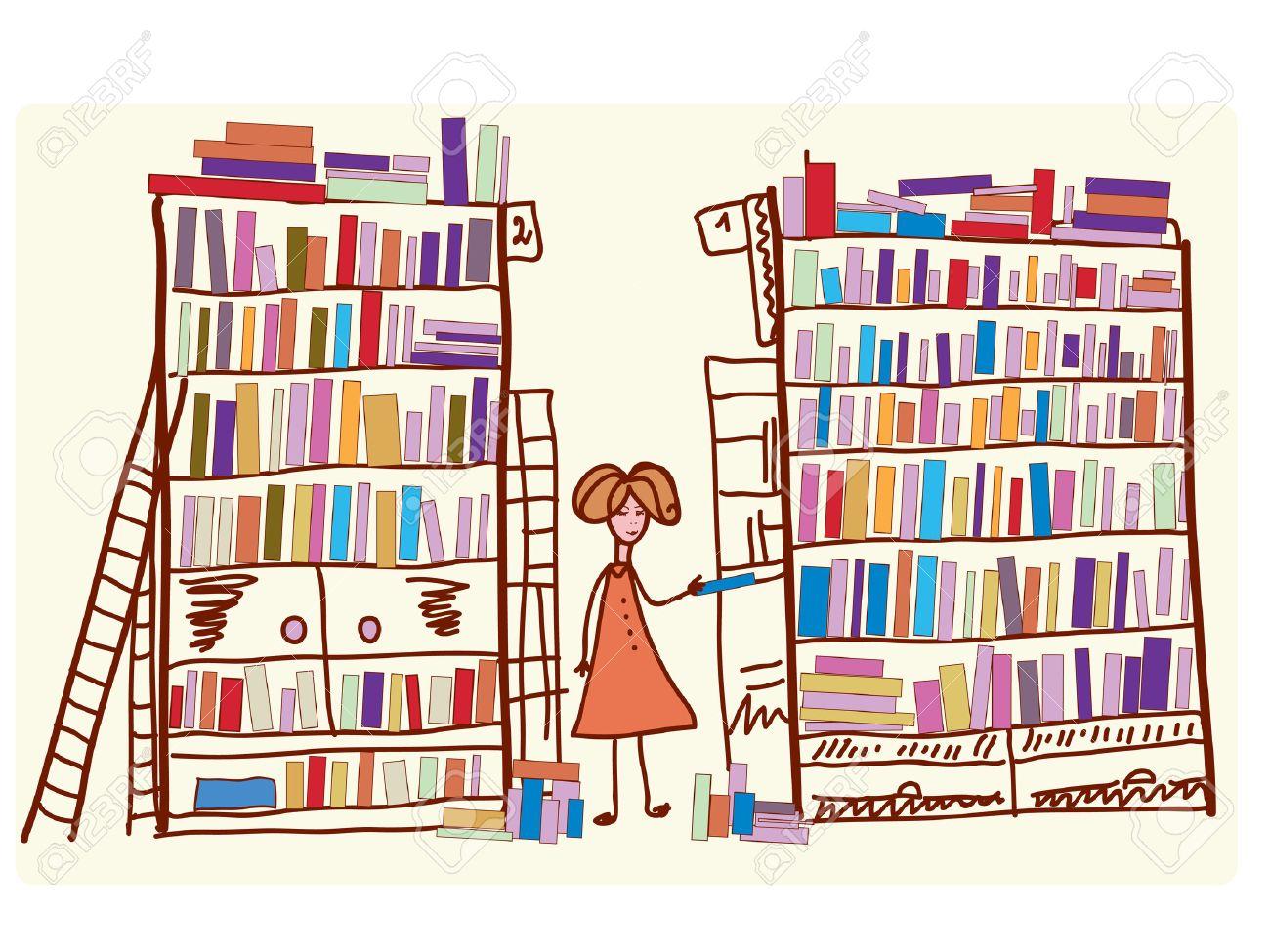Resultat d'imatges de biblioteca dibujo