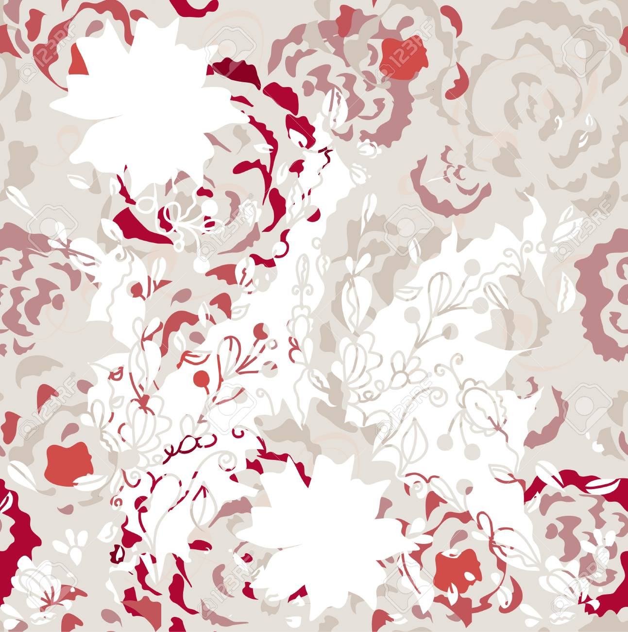 Seamless background with roses in grunge style Stock Vector - 10622753