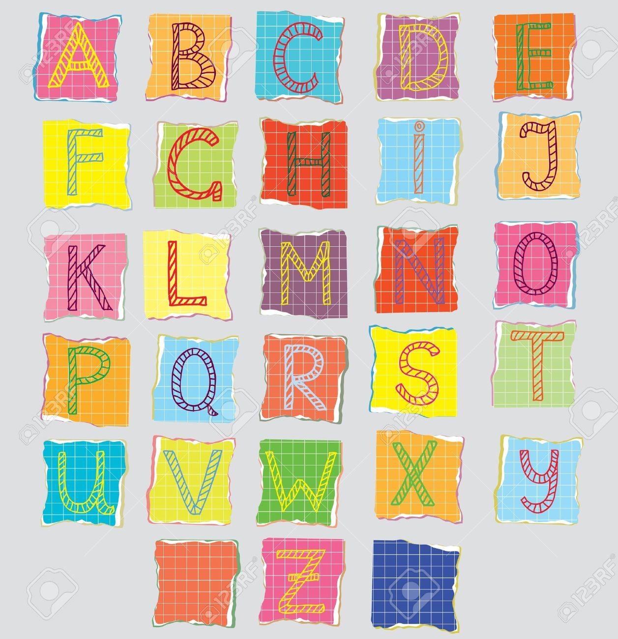 color alphabet for children cartoon stock vector 10710616