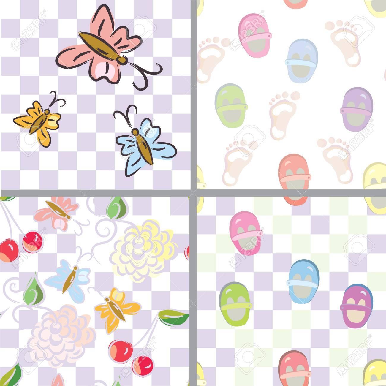 Patrones De Costura Para Bebés Con Flores, Zapatos, Huellas ...