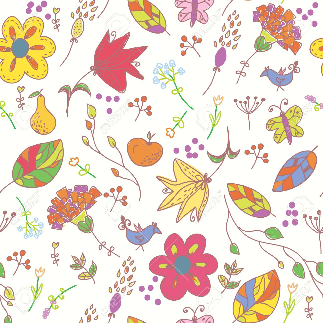 Wallpaper With Birds floral pastel seamless wallpaper with birds and butterflies
