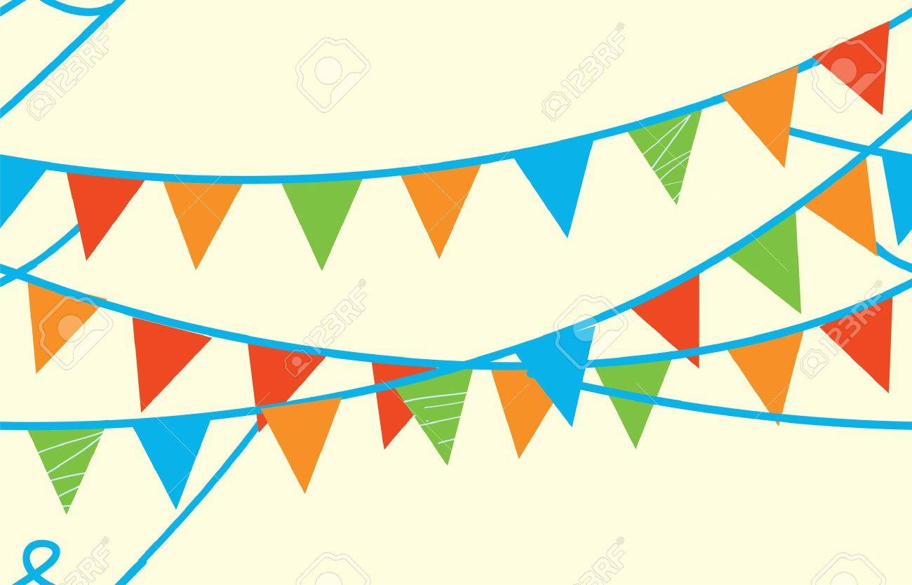 Seamless banner with flags for kids - 15782701