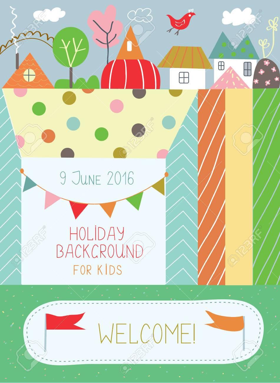 Urlaub Hintergrund Fur Kinder Fur Geburtstag Oder Kindergarten