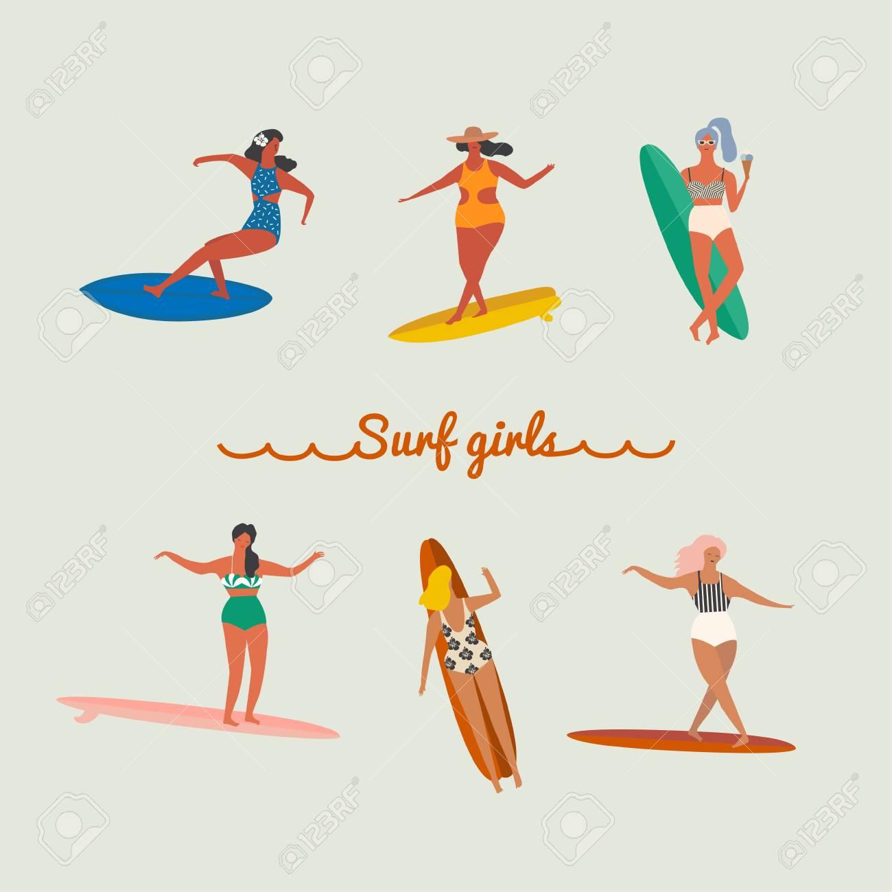 Surfer girls ball kicking | Hot photos)