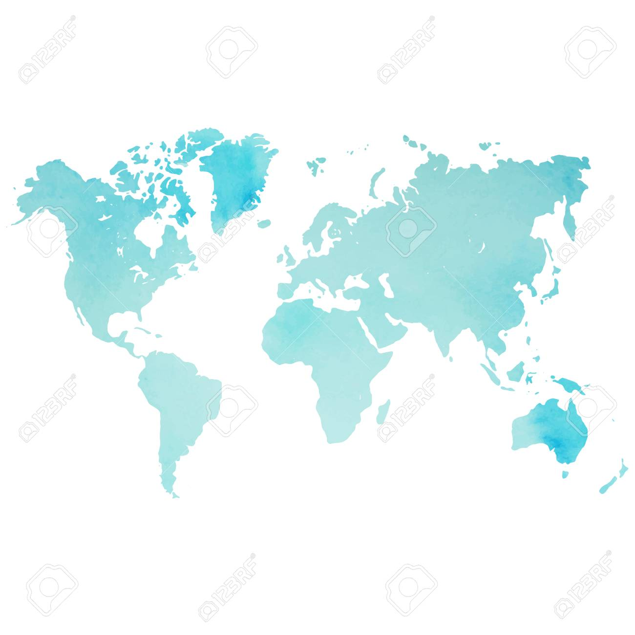 Map Of World Vector.Watercolor World Map In Vector Royalty Free Cliparts Vectors And