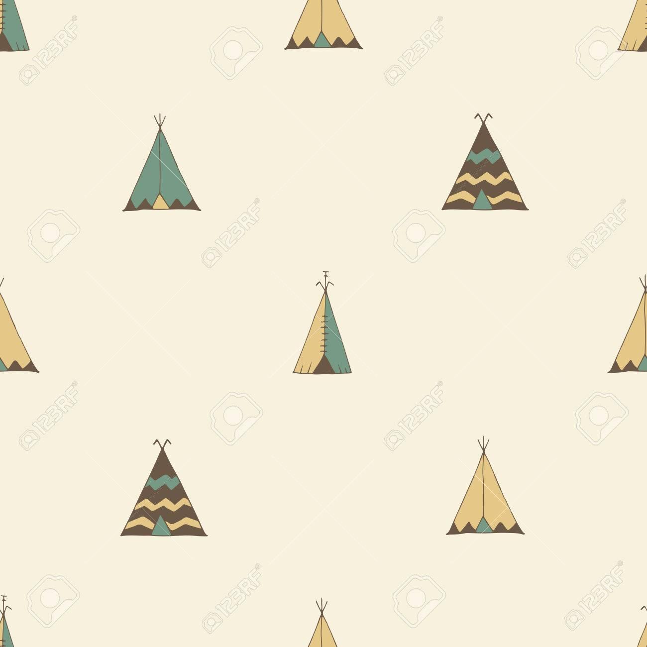Teepee native american summer tent illustration in vector. Stock Vector - 58119742  sc 1 st  123RF Stock Photos & Teepee Native American Summer Tent Illustration In Vector. Royalty ...