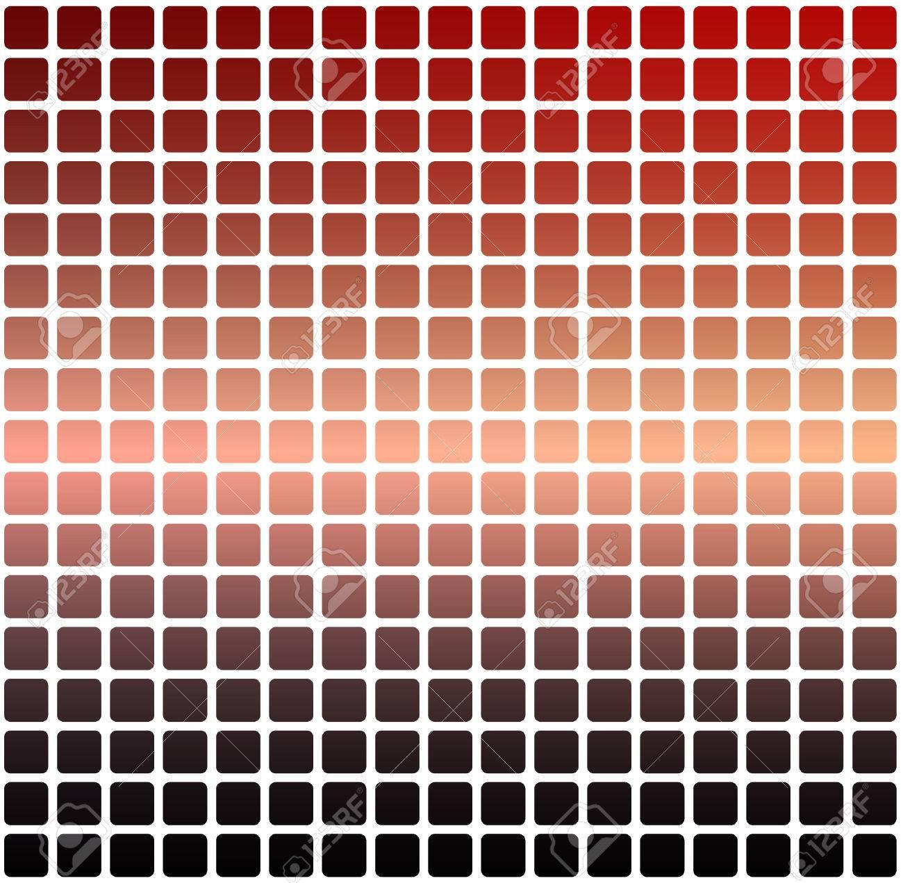 Rot Orange Lila Vektor Abstrakte Abgerundete Ecken Fliesen Mosaik