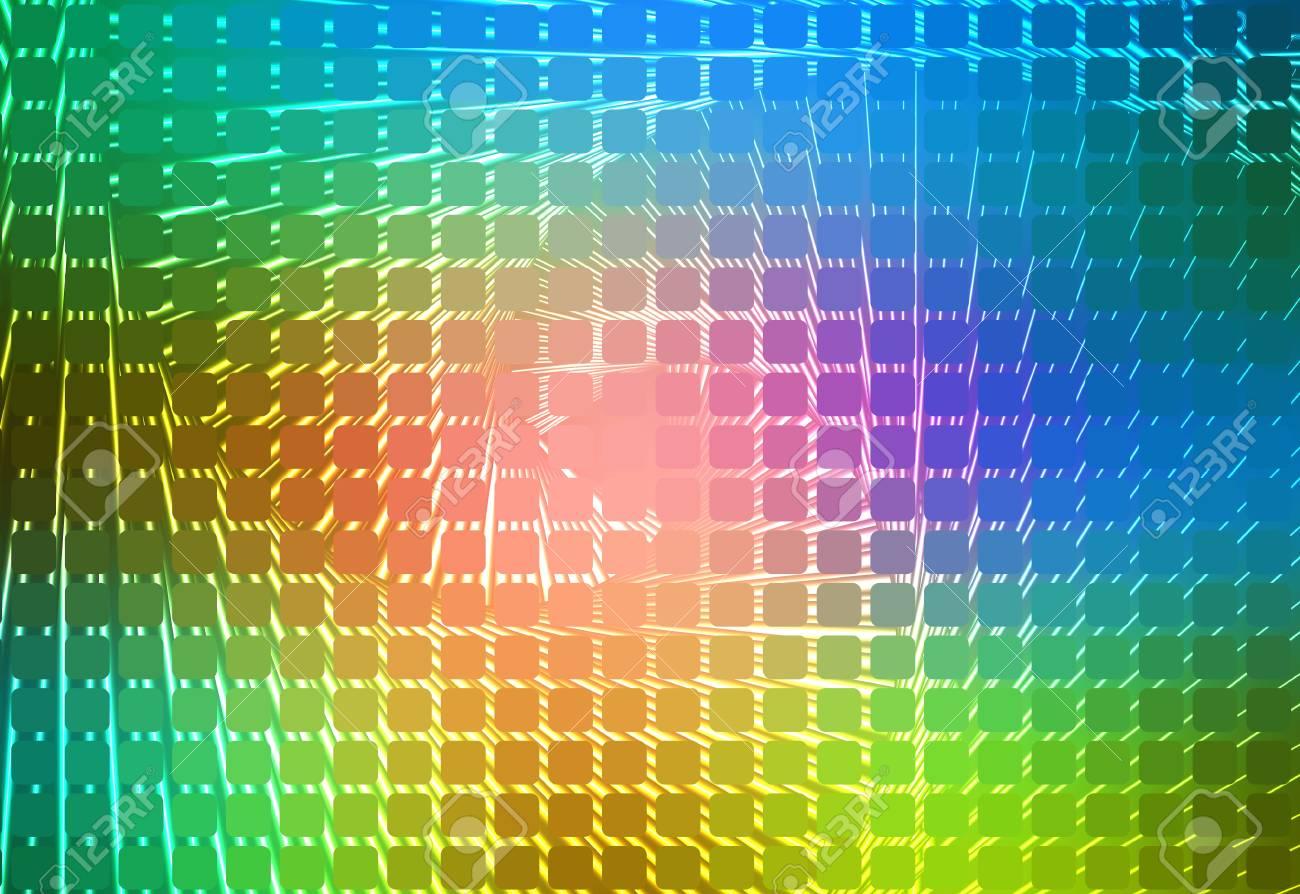 Rosa Grun Blau Leuchtende Spirale Mosaik Abgerundete Ecken Quadrat