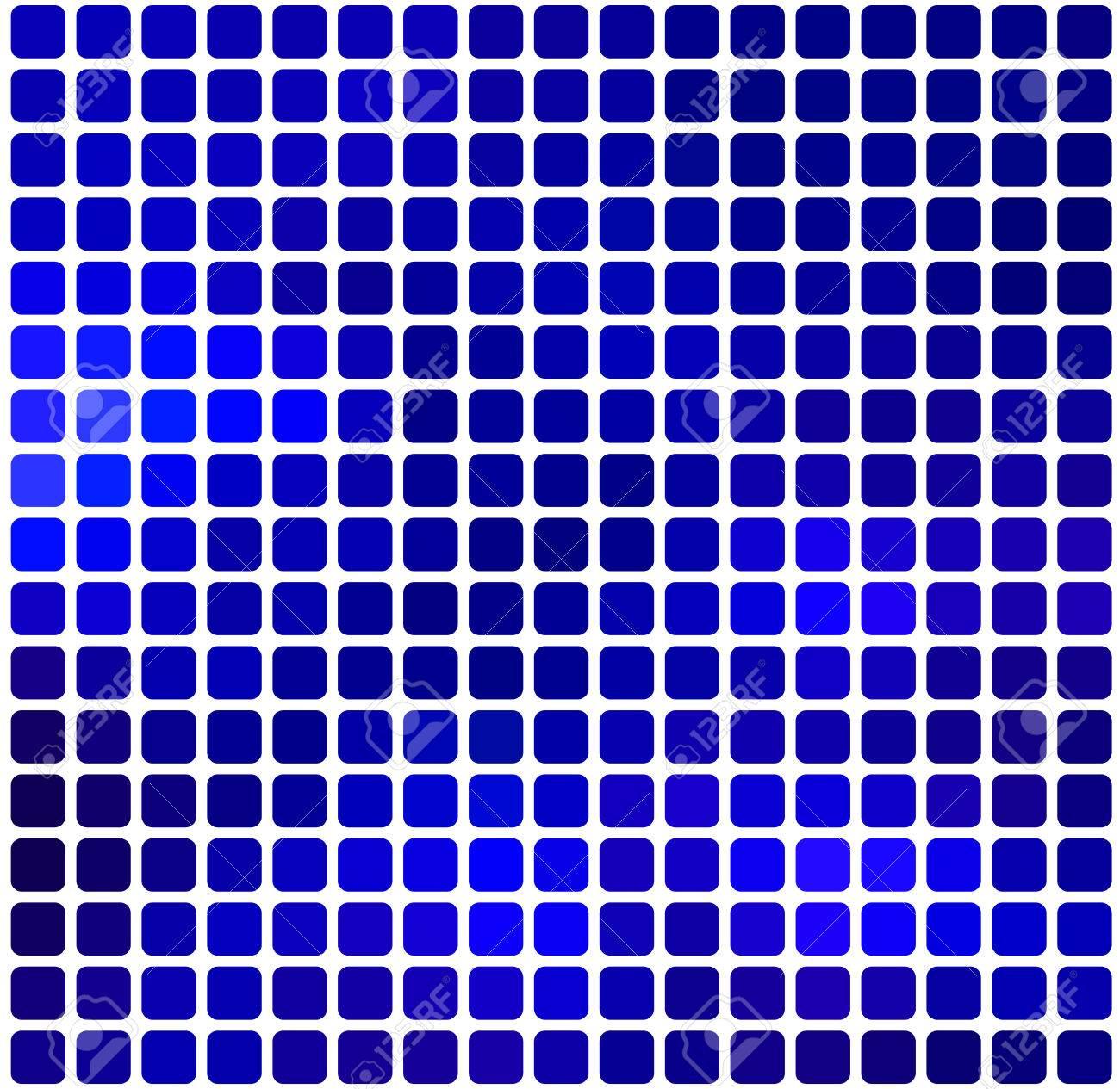 Dunkelblau Abstrakt Abgerundeten Ecken Fliesen Mosaik Uber Weissem
