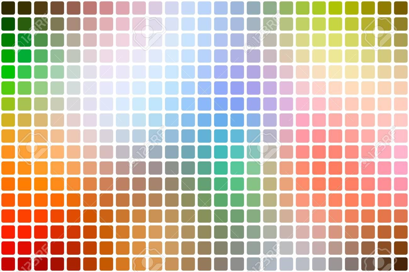 Regenbogenfarben Abstrakter Mosaikhintergrund Mit Abgerundeten Ecken