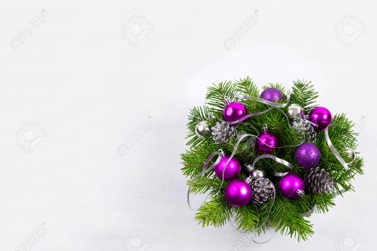 Guirlande De Noël Avec Branche De Sapin Ruban Dargent Pommes De