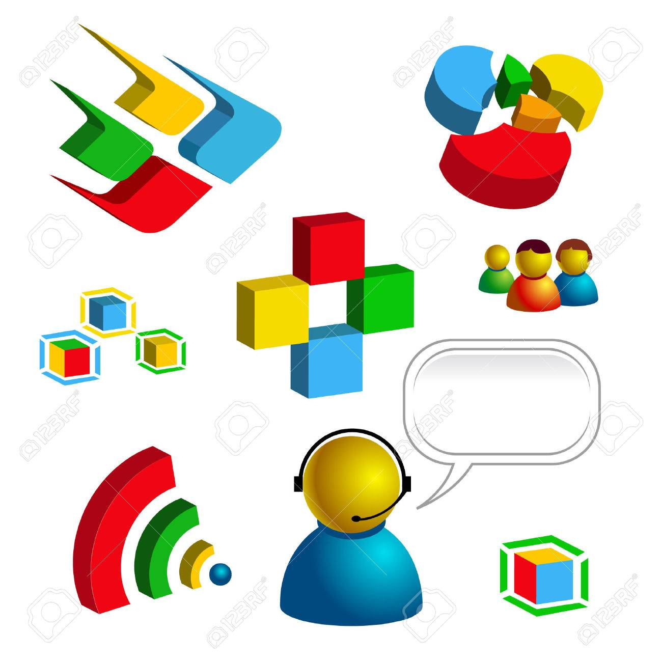 web and technology related vector isolated icons Stock Vector - 4269620