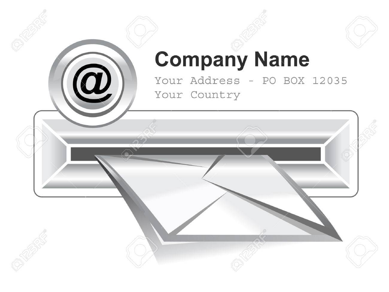 e-mail box vector icon in white background Stock Vector - 5271403