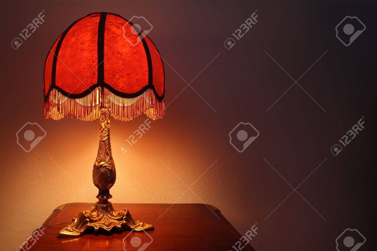 Old fashion table lamp stock photo picture and royalty free image old fashion table lamp stock photo 12636483 aloadofball Image collections