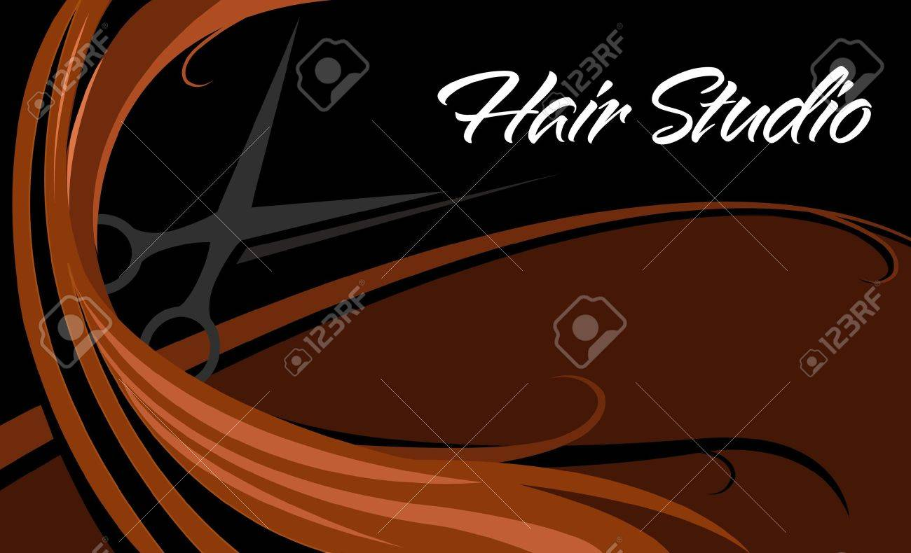 Hair Studio Business Card Royalty Free Cliparts, Vectors, And Stock ...
