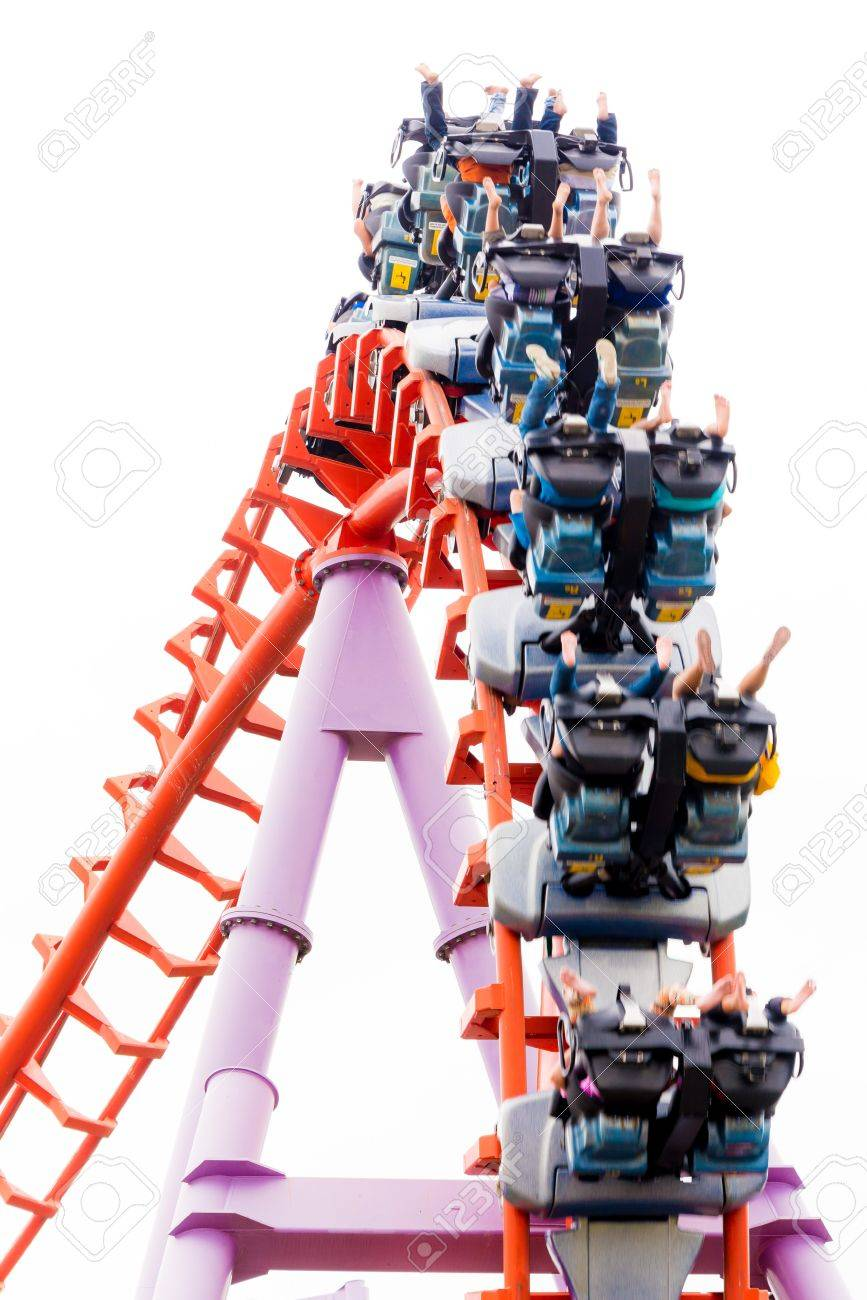 A segment of a roller coaster in Siam Park Thailand isolated - 19133762