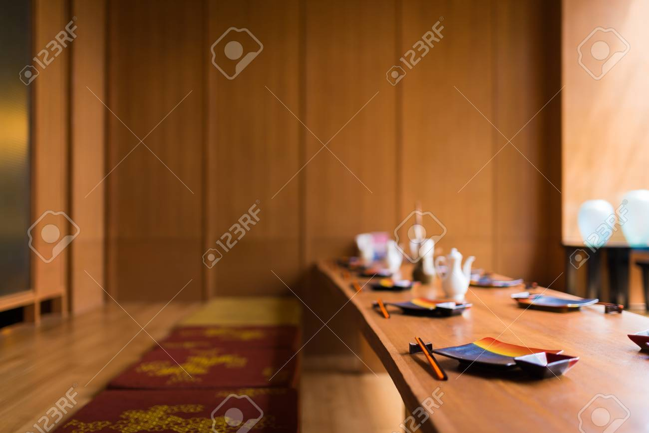 Japanese restaurant with earth tone wooden style - 22177067