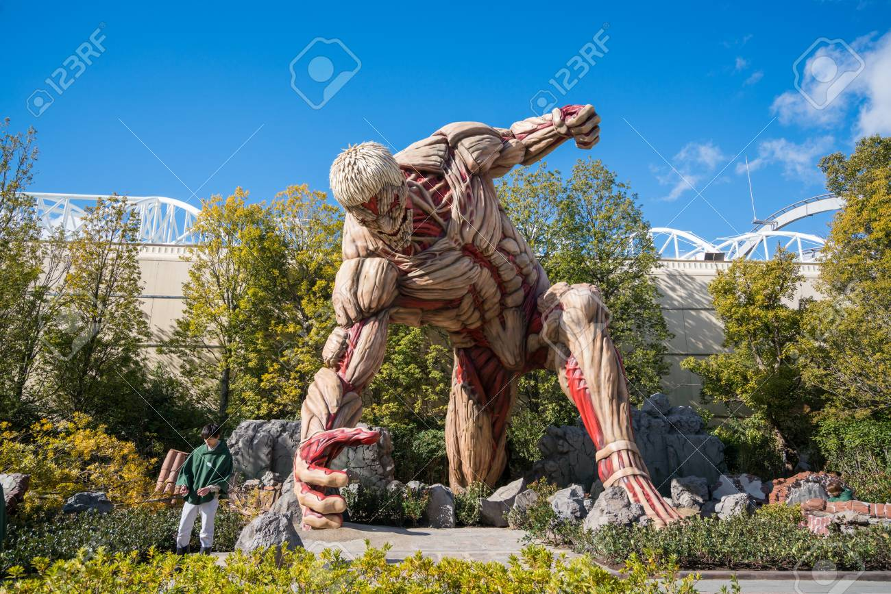 Stock photo titan character from attack on titan japanese manga series