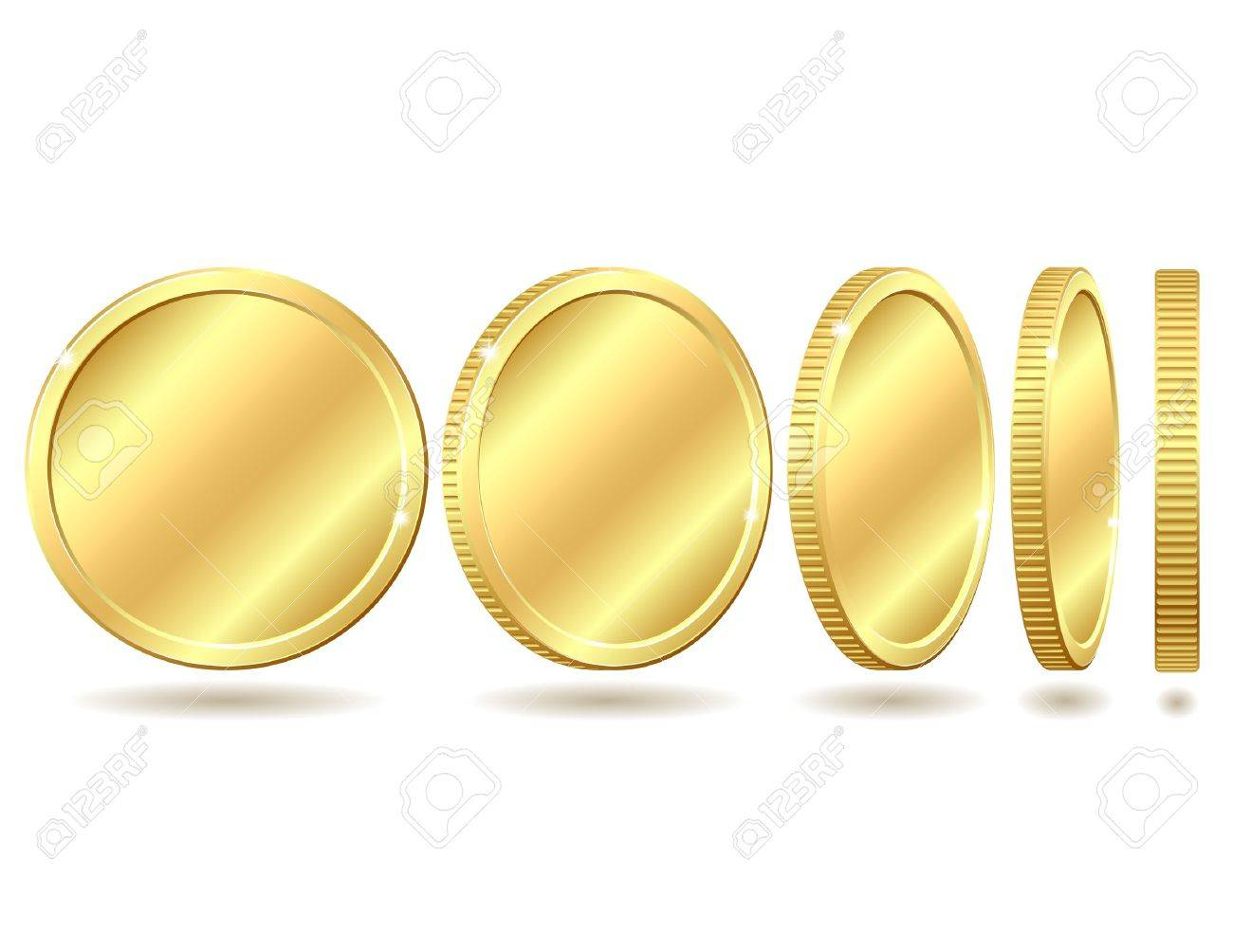 Gold coin with different angles Stock Vector - 13725501