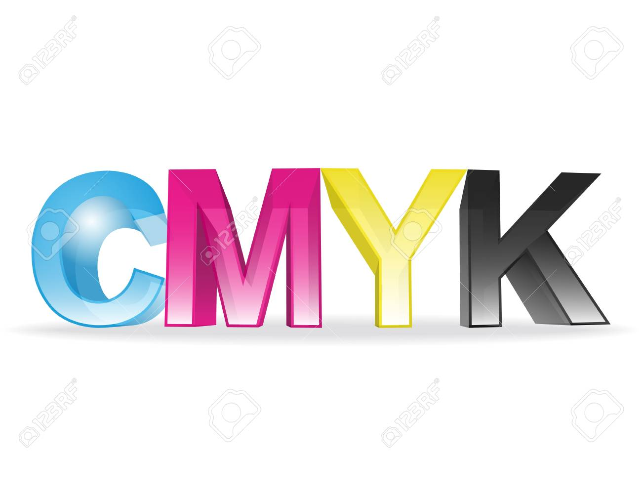 the letters CMYK Stock Vector - 13864297