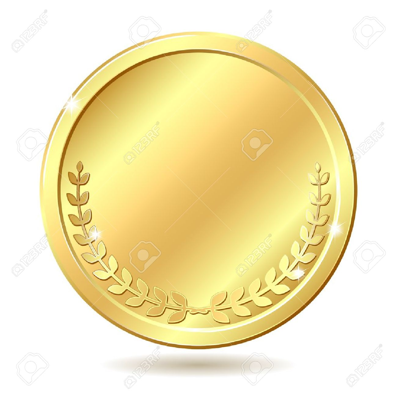 Gold coin Vector illustration isolated on white background - 14388954