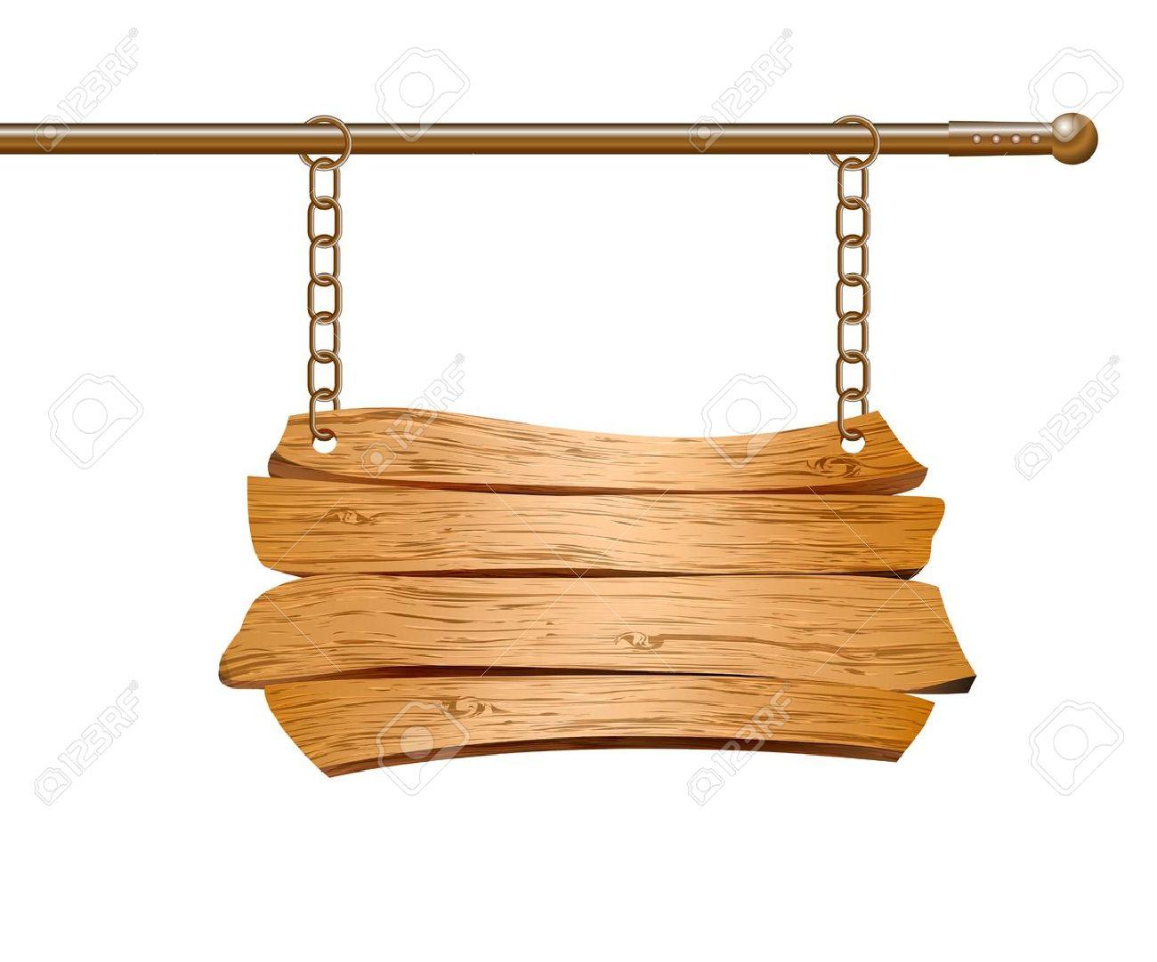 Pancarte bois dessin