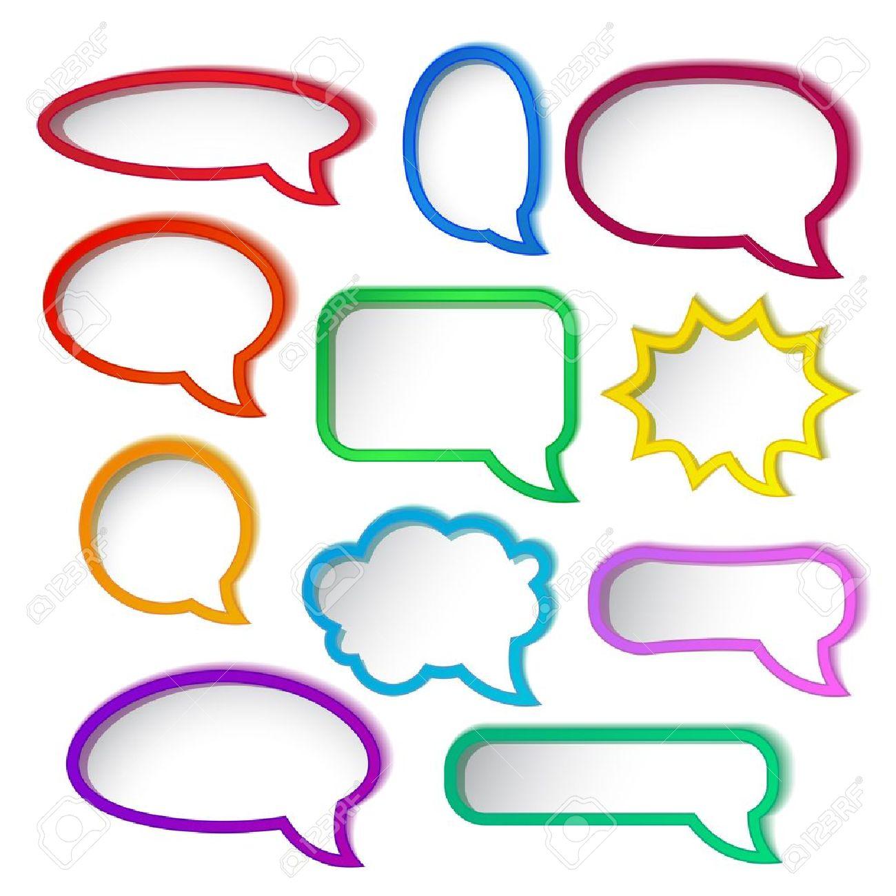 Set of colorful speech bubble frames Stock Vector - 15661952