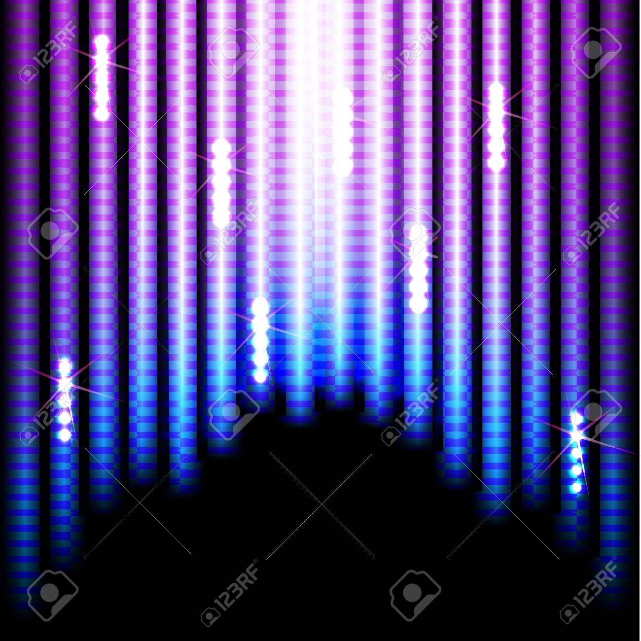 Abstract Colorful Stripes on Black Background Stock Vector - 15796079