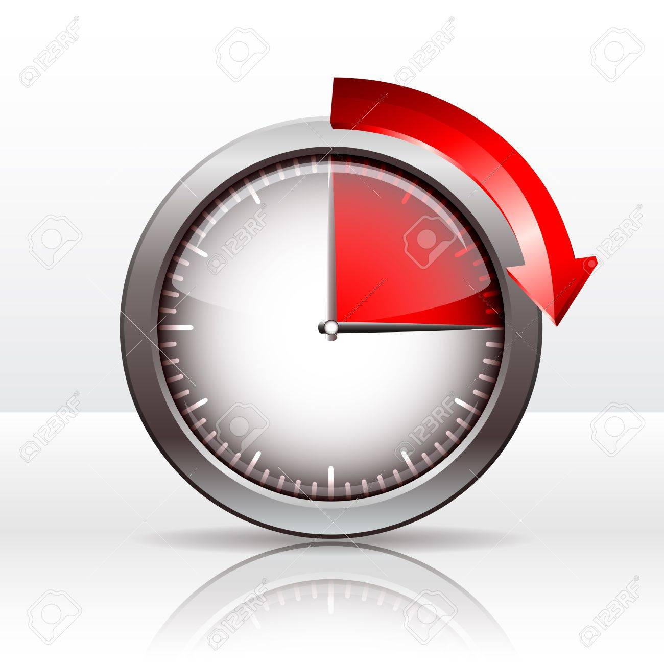 timer clock 15 minutes vector illustration royalty free cliparts