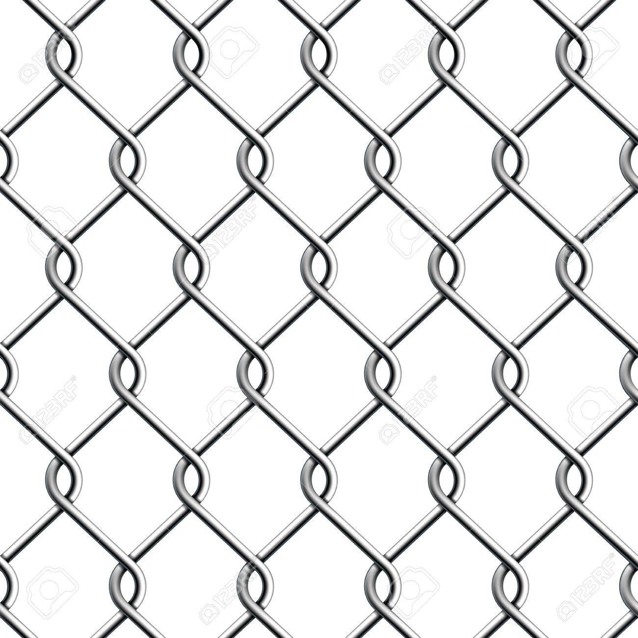 Seamless Chain Fence  Vector illustration Stock Vector - 18991456