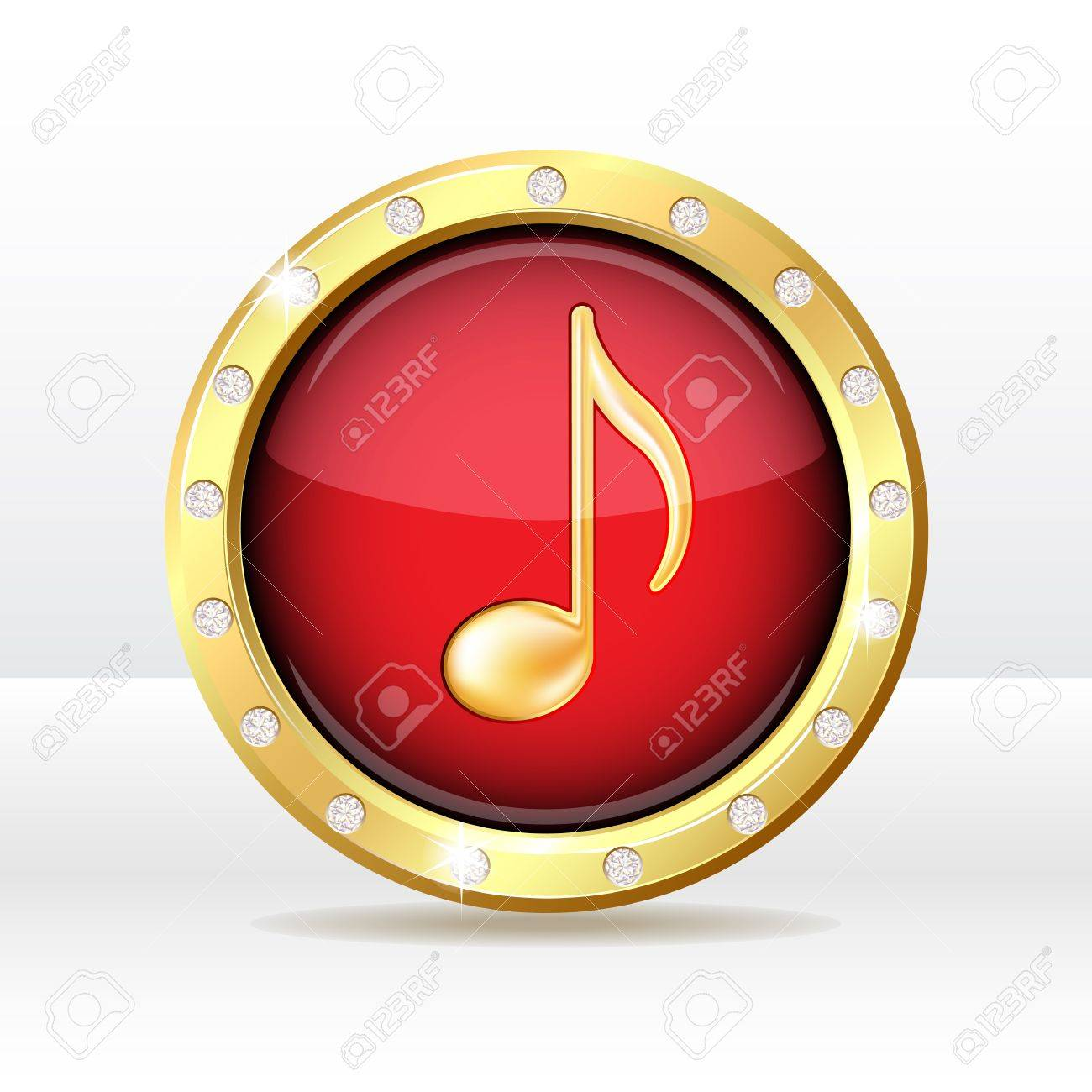old button with musical note sign  Music icon illustration Stock Vector - 20276322