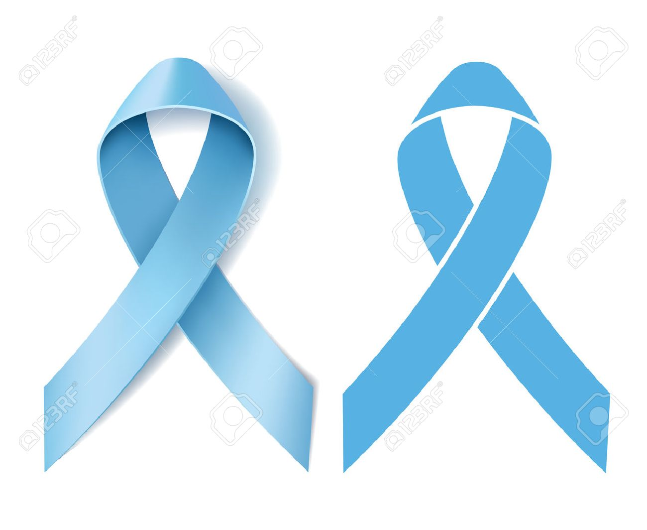 Prostate cancer ribbon awareness disease symbol realistic light prostate cancer ribbon awareness disease symbol realistic light blue ribbon and silhouette light blue biocorpaavc Images