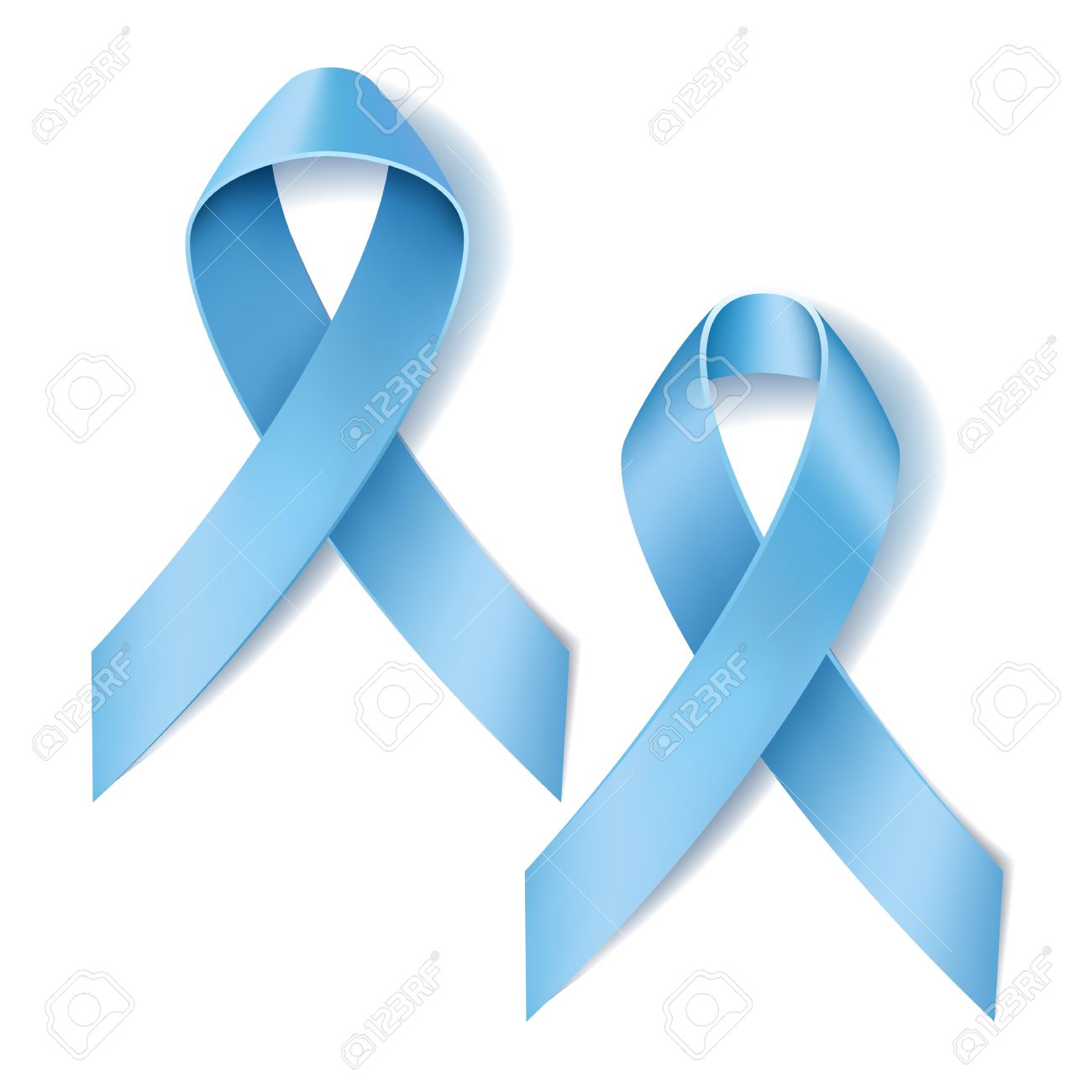 Prostate cancer ribbon awareness disease symbol realistic light prostate cancer ribbon awareness disease symbol realistic light blue ribbon isolated on white background biocorpaavc Images