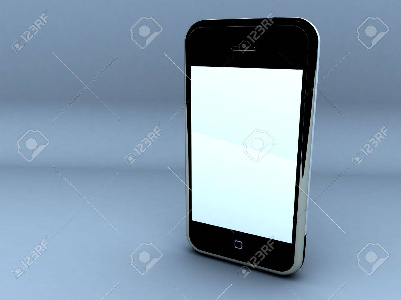 render of a touch screen cellphone. Stock Photo - 5770363