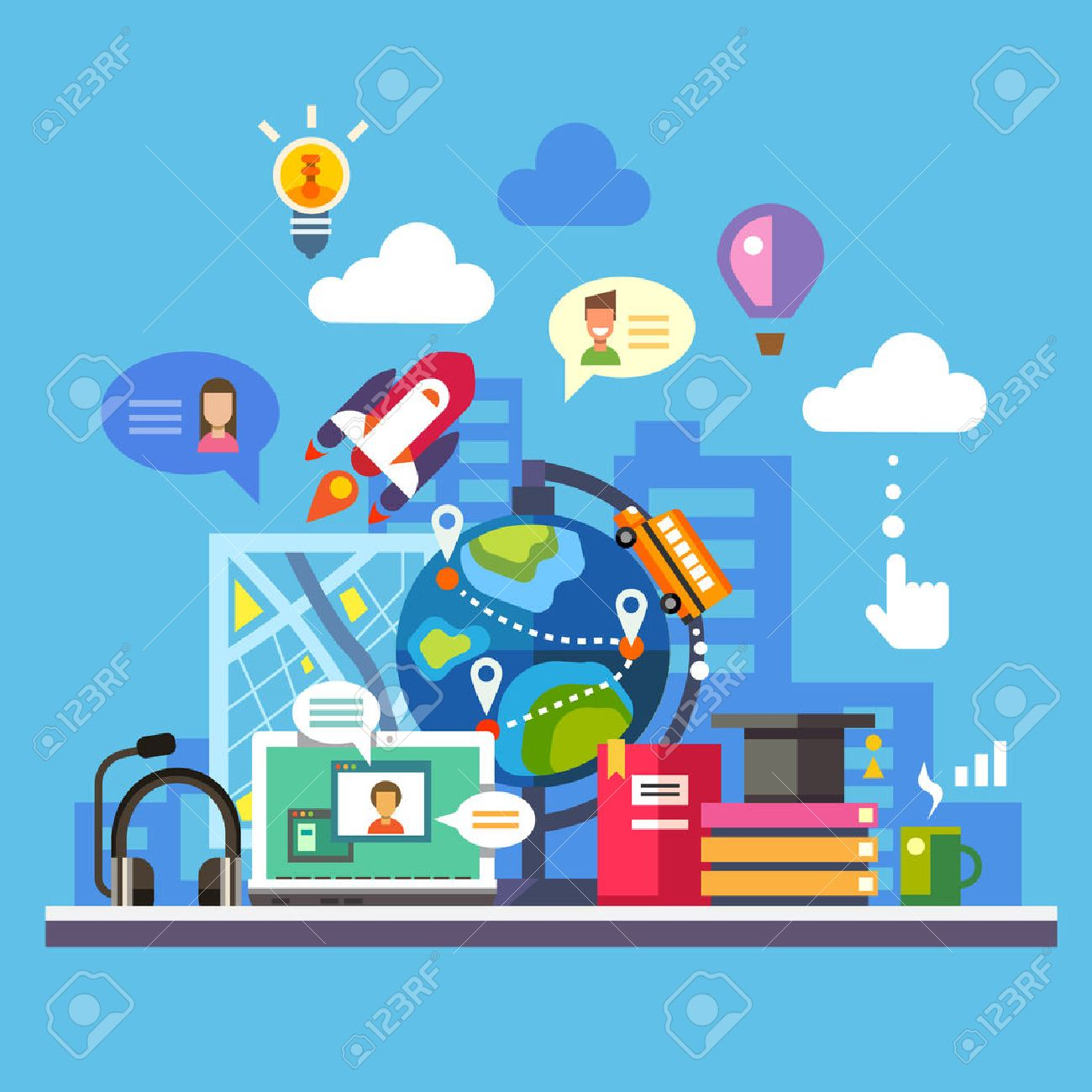 Science and modern technology Stock Vector - 40501759