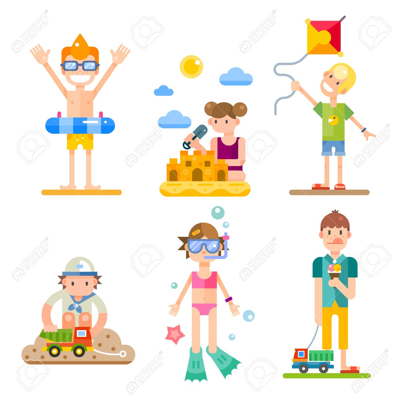 Children On Summer Vacation Their Activities And Fun On The