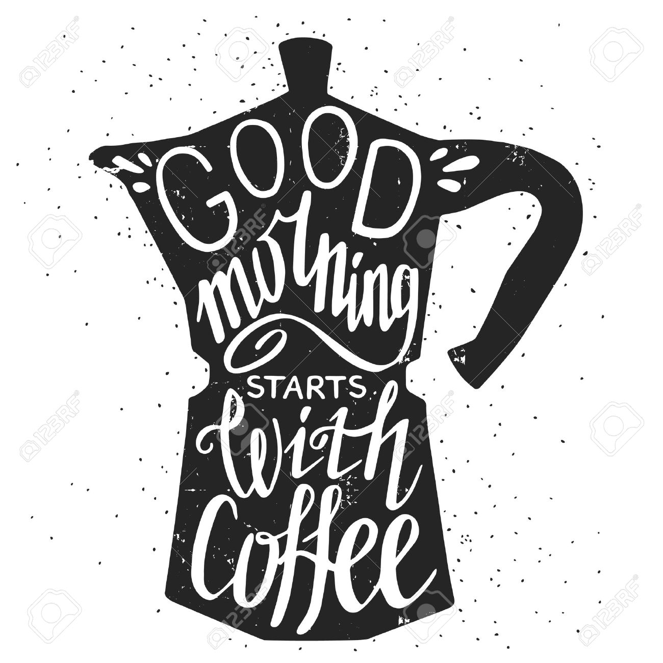 Image of: Beautiful Typography Hand Drawn Typography Poster Greeting Card Or Print Invitation With Coffee Maker Silhouette And Phrase Placeit Hand Drawn Typography Poster Greeting Card Or Print Invitation
