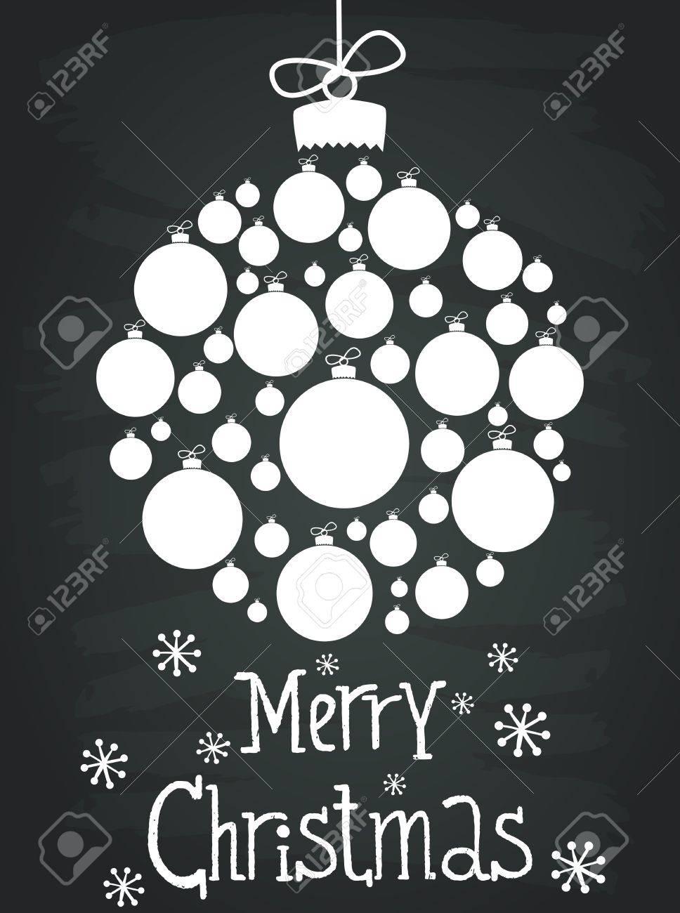 Schone Muster Mit Weihnachtskugeln Lizenzfrei