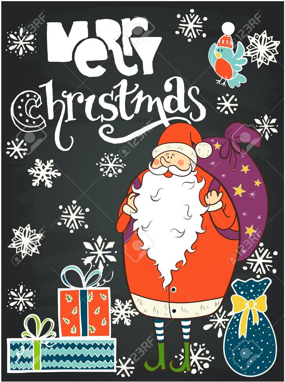 Foto Divertenti Di Buon Natale.Vettoriale Iscrizione Della Mano Di Buon Natale E Divertente