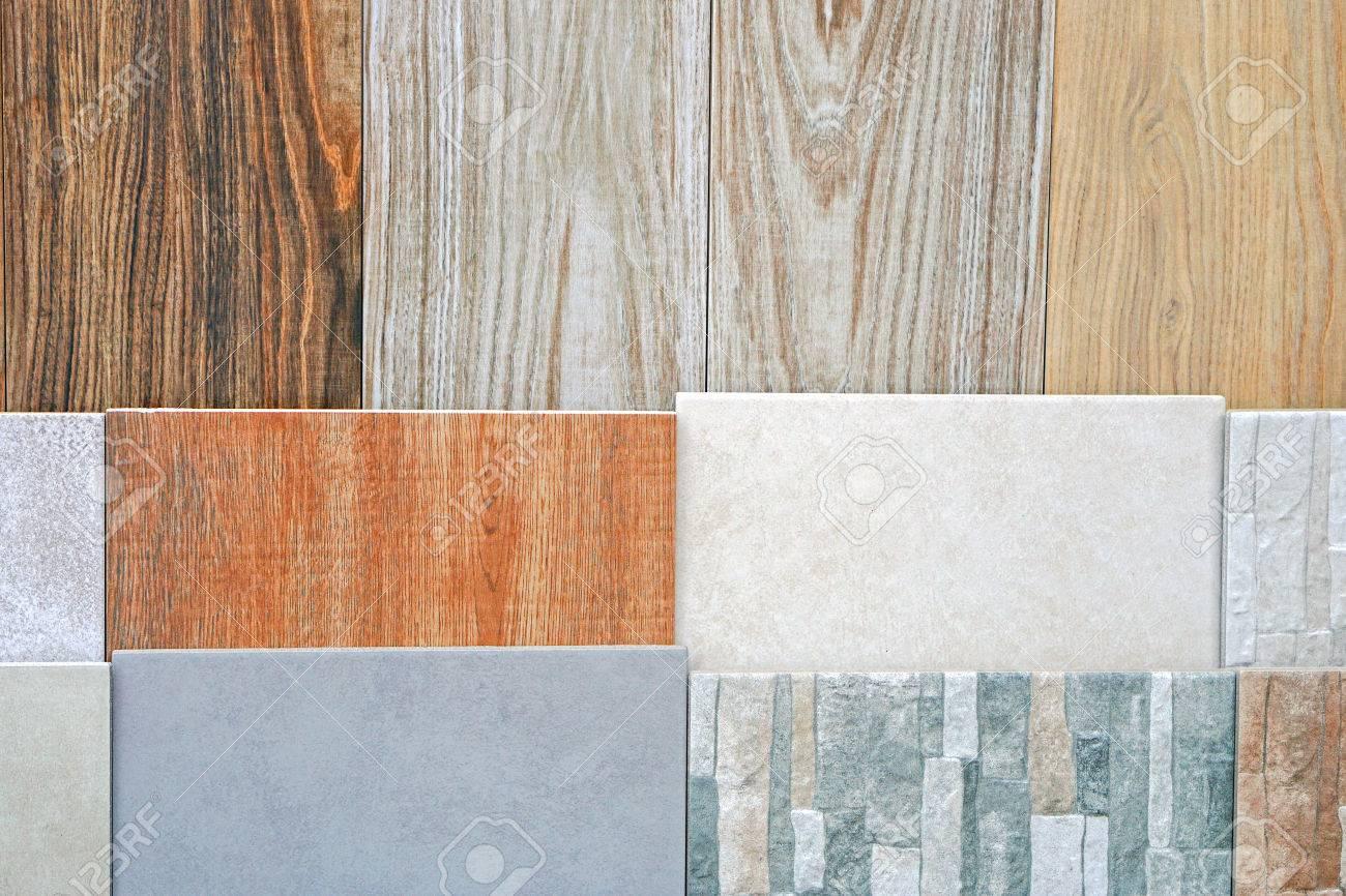 Keramische Fliesen Und Platten In Verschiedenen Mustern Und Farben ...