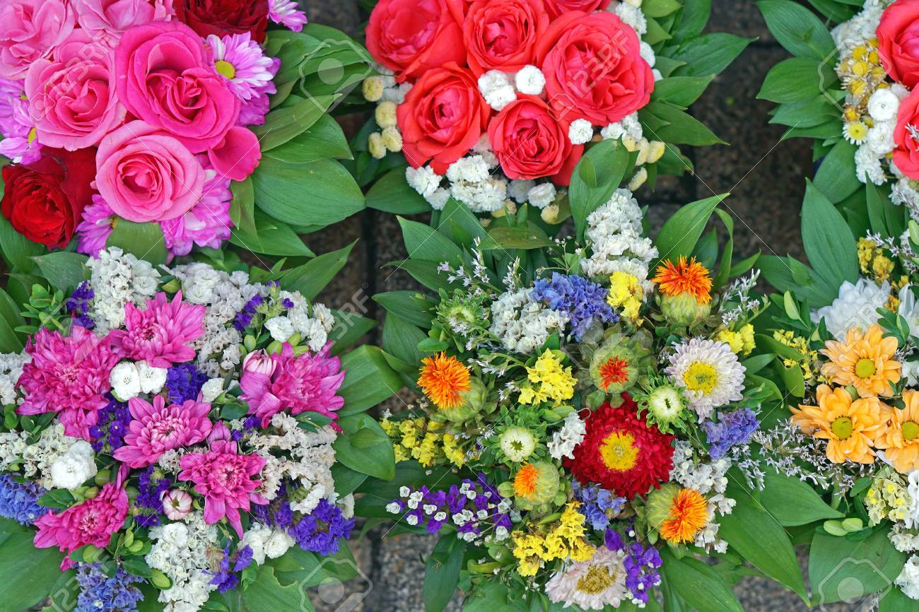 Fresh Flowers Bouquets At Flower Shop Stock Photo, Picture And ...