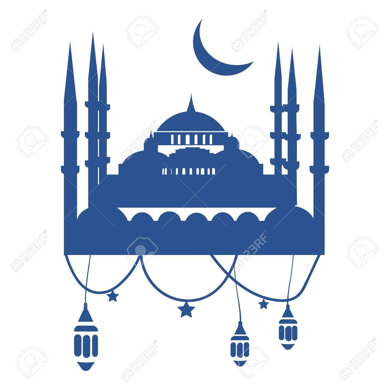 Ramadan Mubarak Or Kareem Greeting Card Template The Ninth Month Of