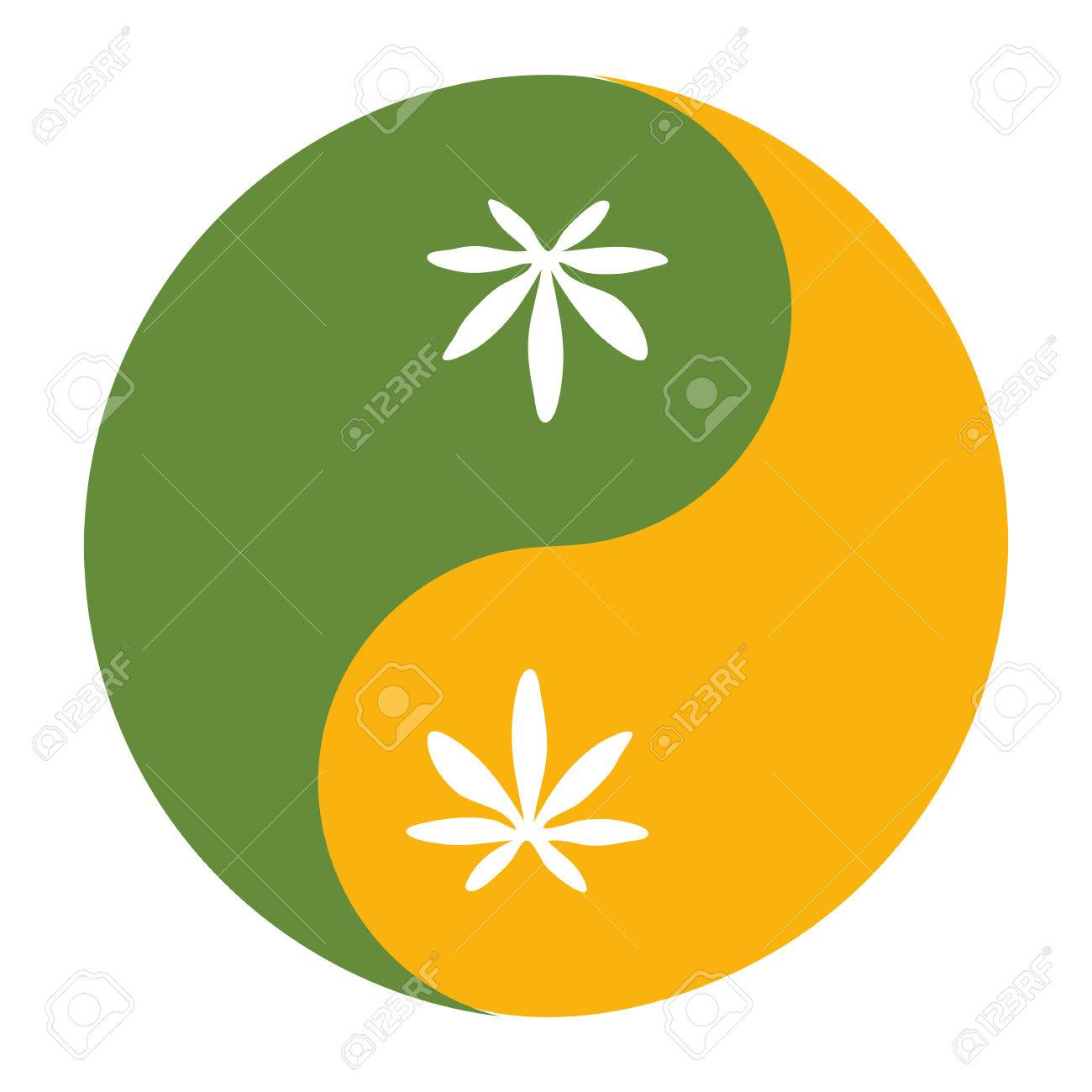 Yin And Yang Symbol Also Known As Taijitu As A Symbol Of Harmony