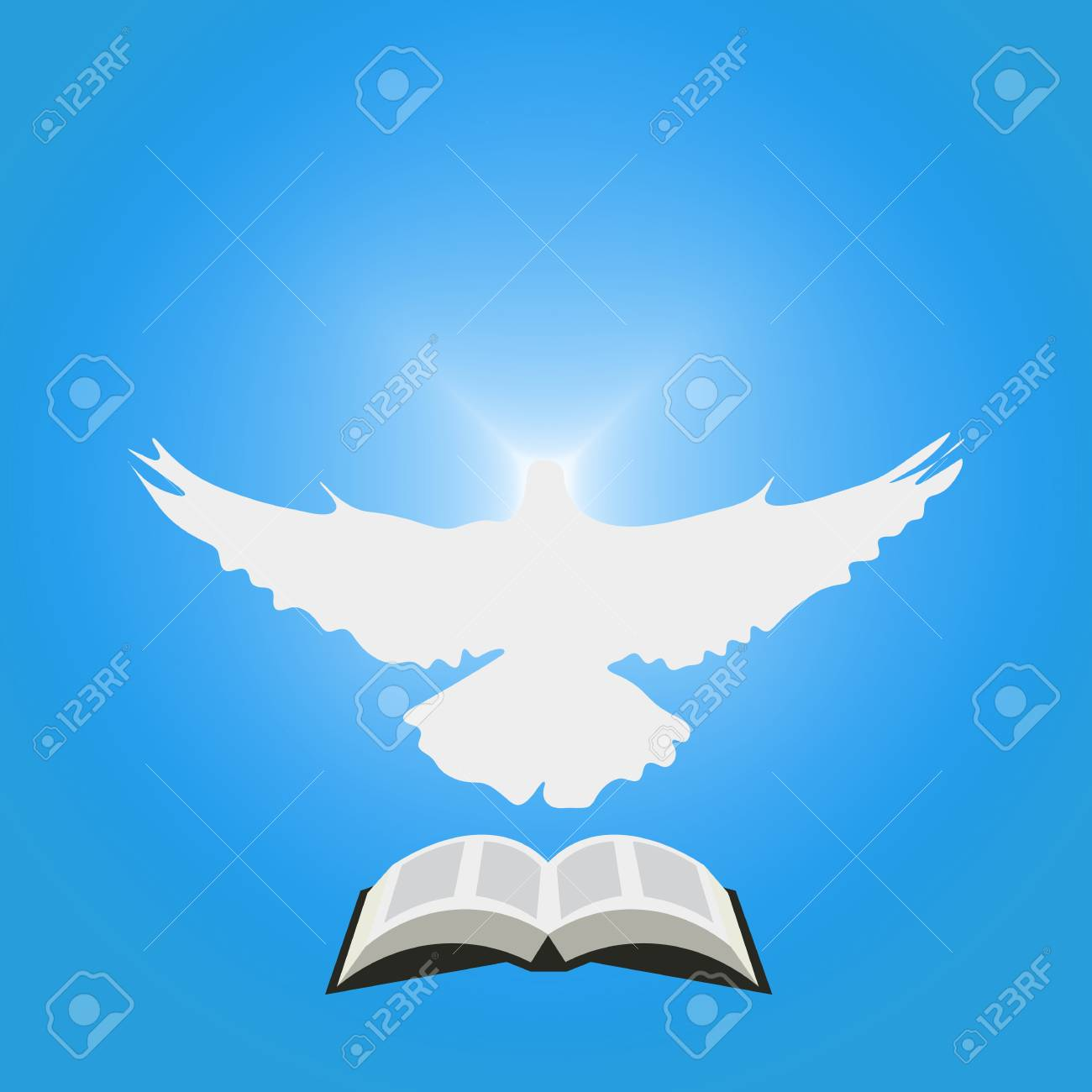 Illustration For Christian Community Dove As Holy Spirit And