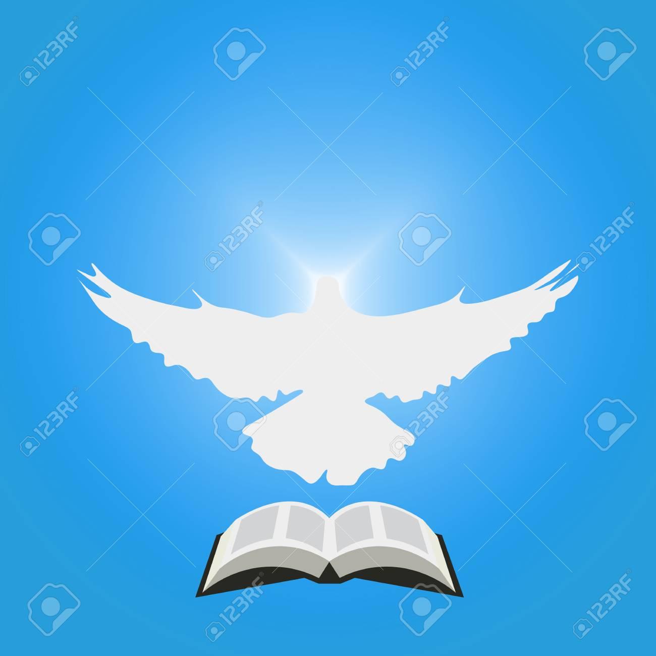 Ilustración Para La Comunidad Cristiana Paloma Como Espíritu Santo