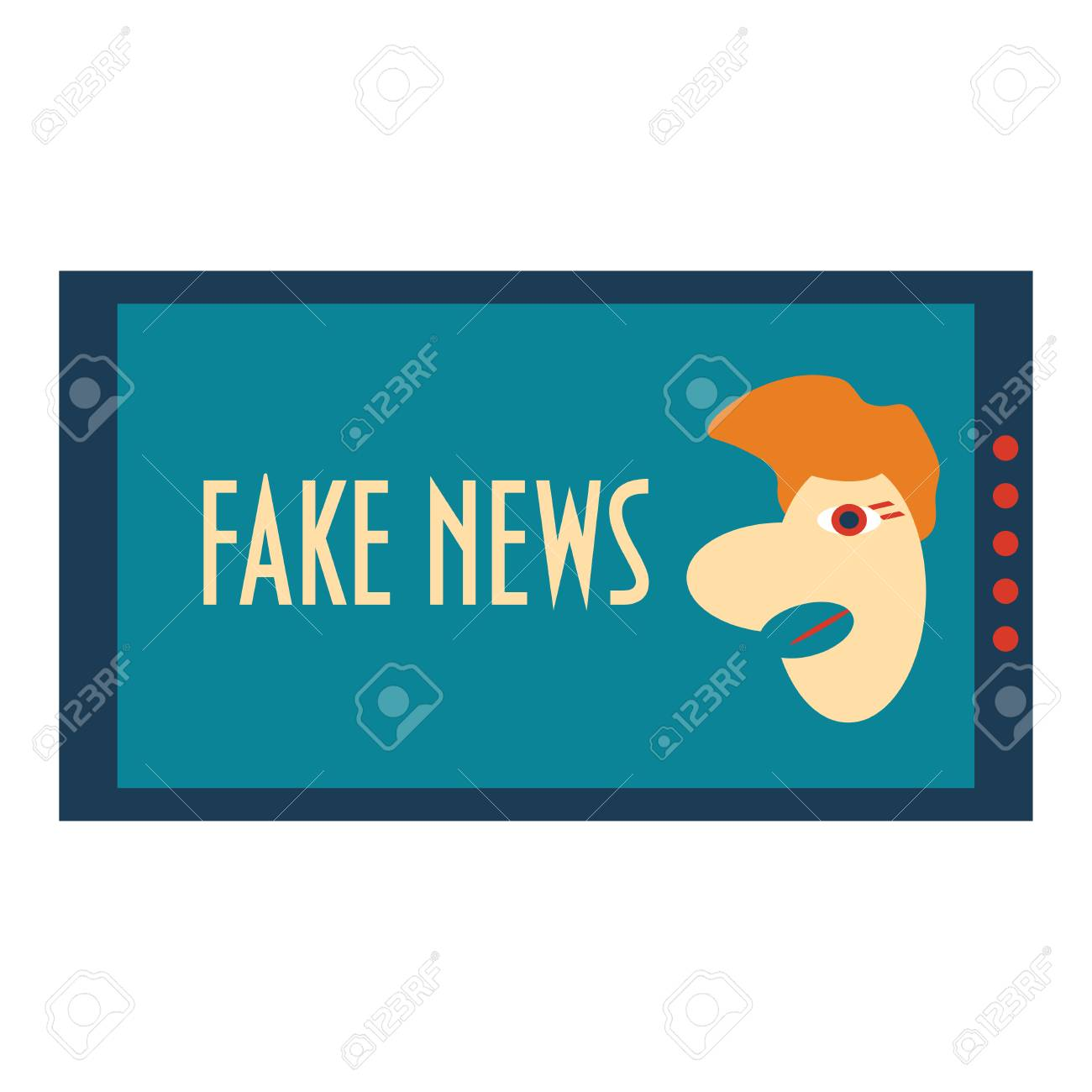 Fake News Concept Corrupt Hoax Media Satire Vector Illustration