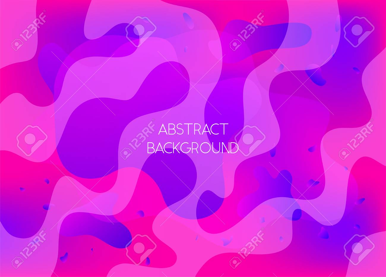 Abstract Pink And Violet Vibrant Background With Wavy Shapes Modern Wallpaper With Gradient Blobs For Ui Design Web Apps Wallpaper Banner