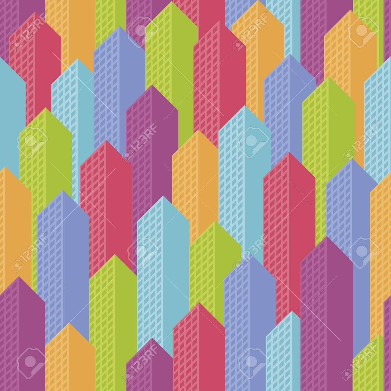 Seamless background city landscape-vector illustration Stock Vector - 18797040