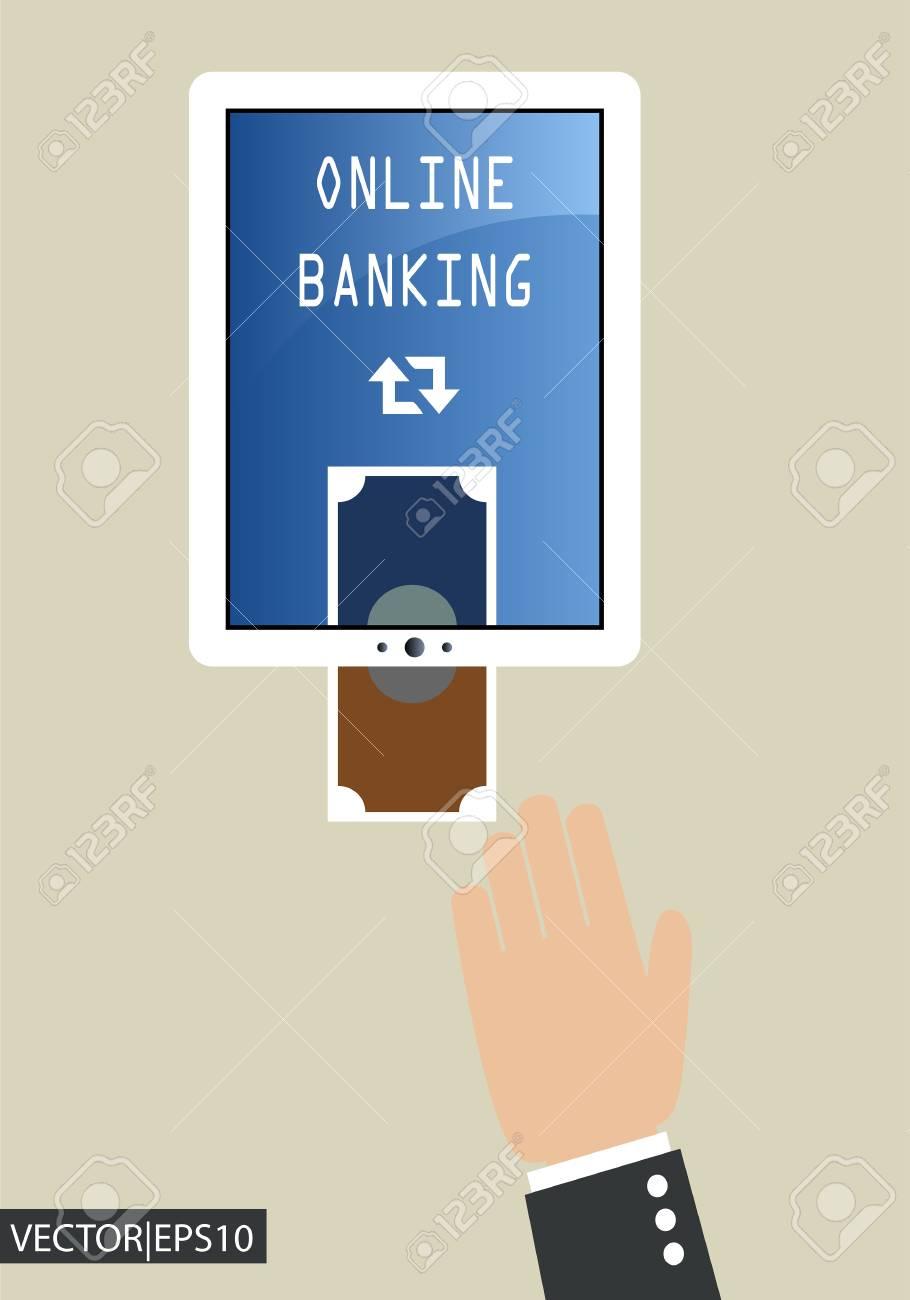 online banking Stock Vector - 19605881
