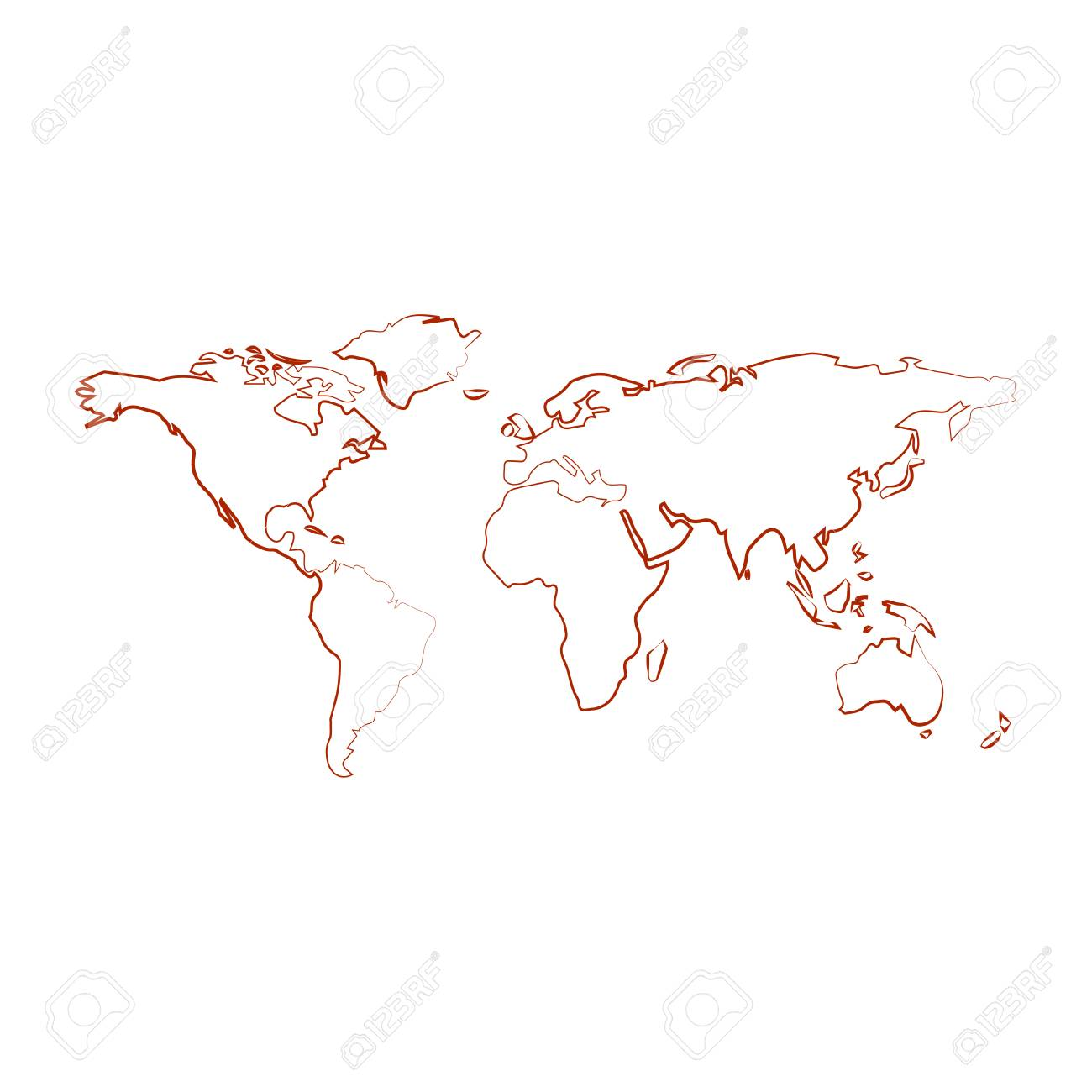 World map with country borders outline on white background royalty vector world map with country borders outline on white background gumiabroncs Gallery